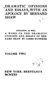 shaw dramatic opinions and essays Book entitled dramatic opinions essays bernard shaw sabrina hirsch has writer this publication definitely so.