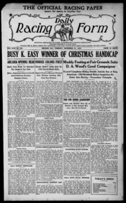 Daily Racing Form: N. Tuesday, December 27, 1938