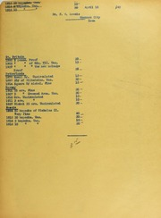 Dr. F.W. Loomis Invoices from B.G. Johnson, April 15, 1940