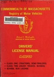 Massachusetts commercial drivers license manual for Massachusetts registry of motor