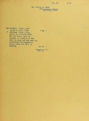 Dr. Morton S. Hahn Invoices from B.G. Johnson, February 14, 1940