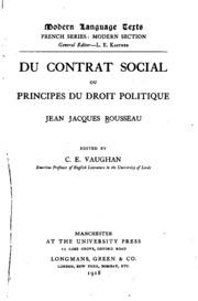 Du contrat social;
