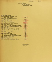 D.W. Field Invoices from B.G. Johnson, February 5, 1940, to December 4, 1940