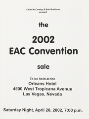 The 2002 EAC Convention Sale