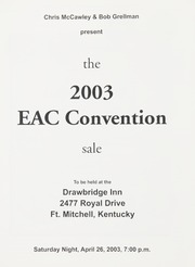 The 2003 EAC Convention Sale (pg. 61)