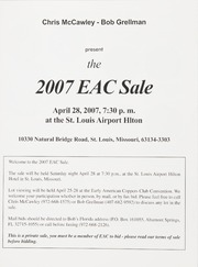 The 2007 EAC Convention Sale