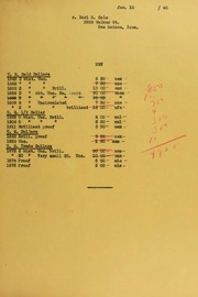 Earl M. Cole Invoices from B.G. Johnson, January 10, 1940, to February 21, 1940