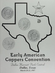 Early American Coppers Convention, Dallas Marriott Park Central, Dallas, Texas, March 20-22, 1987