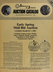 Early Spring Mail Bid Auction