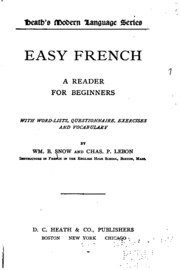 easy french a reader for beginners with word lists questionnaires exercises and vocabulary. Black Bedroom Furniture Sets. Home Design Ideas