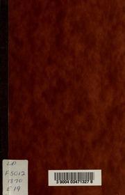 Ecole de medecine et de chirurgie de Montreal : Fondee en 1843 et incorporee en 1845, faculte medicale de l-Universite Victoria, session 1870-1871