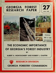 Economic Importance of Georgia's Forest Industry, 27