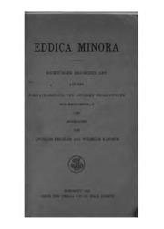 Eddica Minora: Dichtungen eddischer Art aus den Fornaldarsögur und anderen Prosawerken