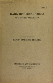 The Edwin Babcock Holden collection. [04/18/1910]