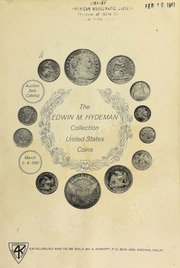 The Edwin M. Hydeman collection of United States coins. [03/03-04/1961]