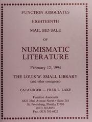 Eighteen Mail Bid Sale of Numismatic Literature