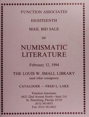 Eighteen Mail Bid Sale of Numismatic Literature