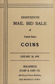 Eighteenth Mail Bid Sale of United States Coins