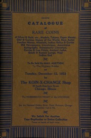 Eighth catalogue of rare coins of silver & gold, etc., medals, tokens, paper money, odd & curious money of the world, rare Aztec feather money, ... numismatic literature, ... to be sold by mail auction to the highest bidder ... [12/12/1933]