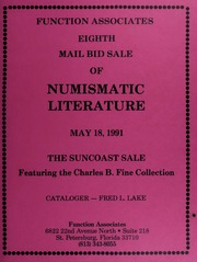 Eighth Mail Bid Sale of Numismatic Literature