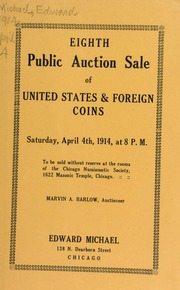 Eighth public auction sale of United States & foreign coins. [04/04/1914]
