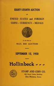 Eighty-Eighth Auction of United States and Foreign Coins, Currency, Medals