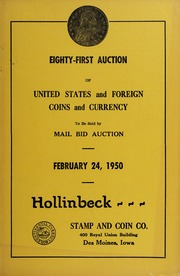 Eighty-First Auction of United States and Foreign Coins and?Currency