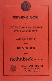 Eighty-Second Auction of United States and Foreign Coins and?Currency