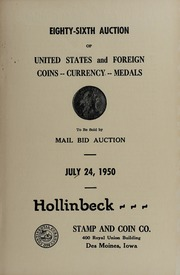 Eighty-Sixth Auction of United States and Foreign Coins, Currency, Medals