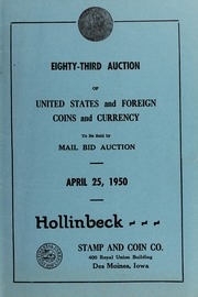 Eighty-Third Auction of United States and Foreign Coins and?Currency