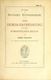 Eine Dürer-erinnerung aus dem romantischen Berlin