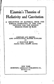 essays on theory of relativity General relativity research papers discuss einstein's general relativity that is a synthesis of special relativity and newton's law of universal gravitation.