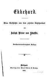 Ekkehard: Eine Geschichte aus dem zehnten Jahrhundert