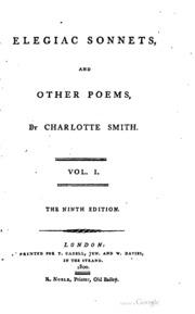 charlotte smiths elegiac sonnets essay Charlotte smith elegiac sonnets 44 analysis essay, creative writing daily prompts, phd creative writing melbourne university.