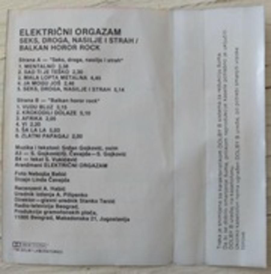 Električni Orgazam - Seks, Droga, Nasilije I Strah
