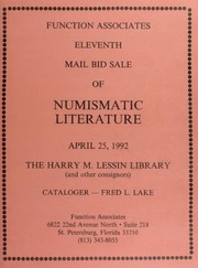 Eleventh Mail Bid Sale of Numismatic Literature