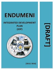 KZN241 Endumeni Draft IDP 2015 16
