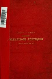 Vol 02: Elévations poétiques
