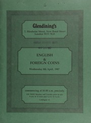 English and foreign coins, [including] a Dr. Albert Schweitzer set of three gold medals, 1965, by Kovacs, published by Gregory & Co.; [and] a collection of 513 copper coins of Charles II to George IV;  ... [04/08/1987]
