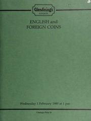 English and foreign coins, to be sold by auction, [including] a collection of crowns; coins of the U.S.A, [such as] a Louisiana French 5-francs, 1846, rev. counterstamped PHILIPS' CHEAP STORE NAYADES; ... [02/01/1989]
