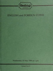English and foreign coins, to be sold by auction, [including] a collection of Maundy money sets; numerous Anglo-Saxon pennies, Irish and Isle of Man pennies, [as well as] a U.S.A. half-dollar 1806, draped bust type, with knobbed 6 and large stars; [etc.] ... [05/10/1989]