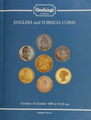 English and foreign coins, to be sold by auction, [including] a group of seven gold medals, including the Nobel Prize for Medicine presented to the eminent British scientist and scholar Sir Henry Hallett Dale, O.M., G.B.E., M.A., M.D.;  ... [10/10/1989]