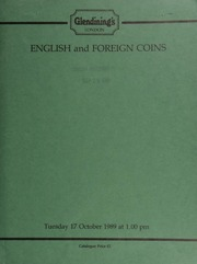 English and foreign coins, to be sold by auction, [including] various proof sets of crowns of Elizabeth II; a Merovingian, Pseudo-Imperial coinage tremissis, Facing Victory type; [and] Societé Anonyme Argor, gold ingots (2), numbered 15373 and 15374; [etc.] ... [10/17/1989]