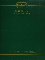 English and foreign coins, to be sold by auction, [including] a Jamaica, 10th Anniversary medal of the Investiture of the Prince of Wales, 1979; 12 long cross pennies of Edward I, from various mints; [also] a group of modern Commonwealth coins; [etc.] ... [11/01/1989]