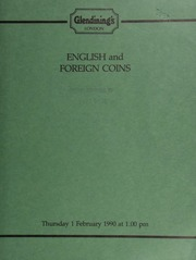 English and foreign coins, [including] a Queen Victoria specimen set, 1887, [containing] both types of double-florin; [and] an Edward VII, Coronation, 1902, proof set; ... [02/01/1990]