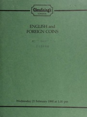 English and foreign coins, [including] a Hong Kong, Elizabeth II, proof of 1,000 dollars, 1980, Year of the Monkey; [and] an India, Punjab Railway Co., gold Director's pass, 1886;  ... [02/21/1990]