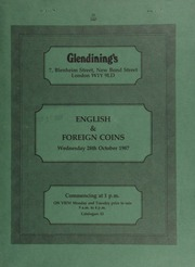 English and foreign coins, [including] a Henry VII gold angel, new type, m.m. pansy; [also] coronation medals, stamp replicas, seventeenth century tokens, numerous Indian coins, [and] U.S.A. Morgan dollars, [etc.] ... [10/28/1987]