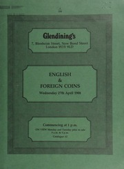 English & foreign coins, [including] an Edward VII to Elizabeth II type set of coins, 1902-1970; [and] a U.S.A. trade dollar, 1888; also Irish and Scottish coins, and historical medals, [etc.] ... [04/27/1988]