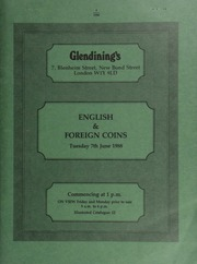 English and foreign coins, [including] a William and Mary five guineas, 1691, elephant and castle, (MCE 137); a George IV two pounds, 1823, grafitti in reverse field;  ... [06/07/1988]