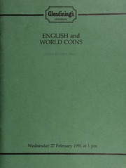 English and world coins, [including] a George VI Coronation, 1937, proof set, ... kept in a bank vault since its issue in 1937; a small collection of farthings; 17-19th century tokens,  ... [02/27/1991]